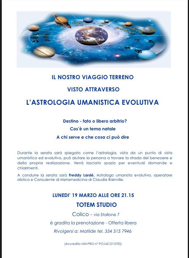 astrologia umanistica evolutiva Totem Studio