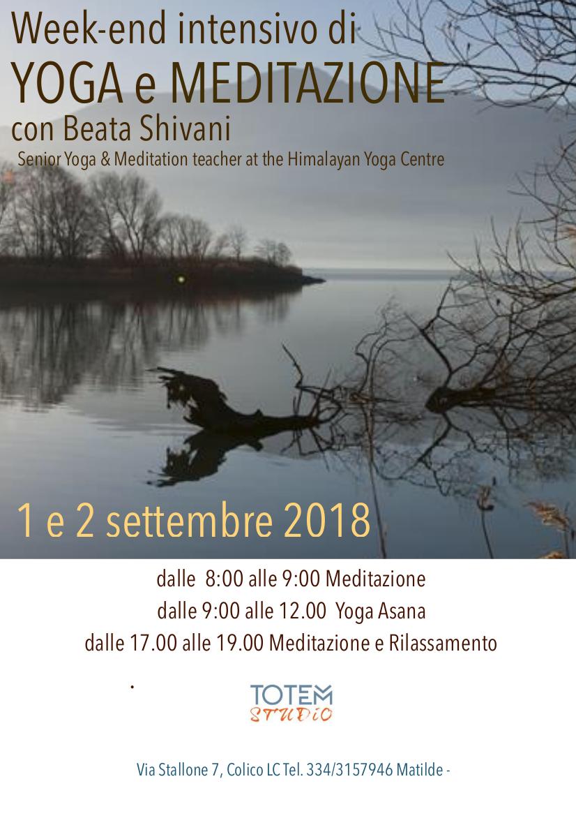 Week end settembre 2018 yoga e meditazione Toem Studio
